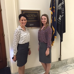 Andrea and Abbie at Rep. Dent's Office
